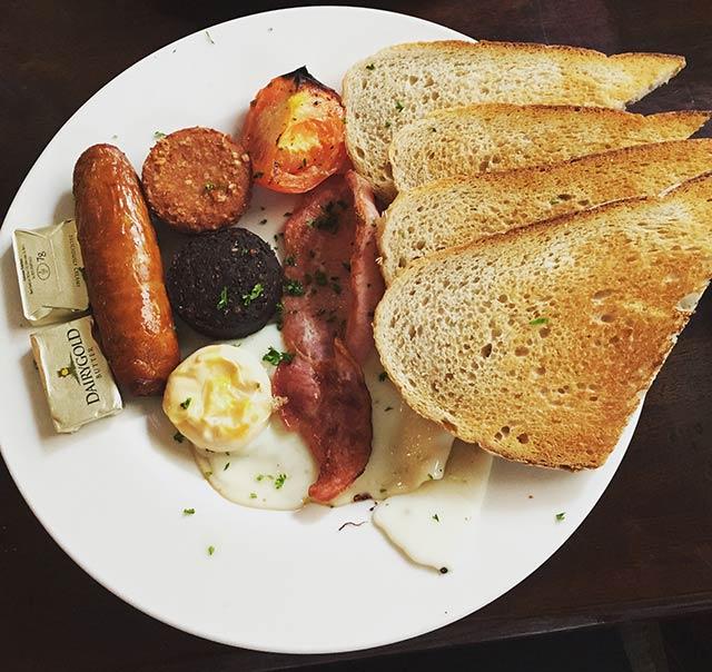 Traditional Irish breakfast Dublin, Ireland