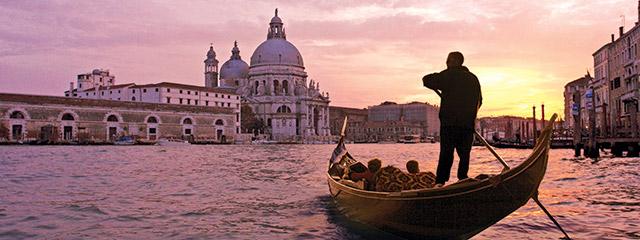 Go for a gondola ride in Venice, Italy
