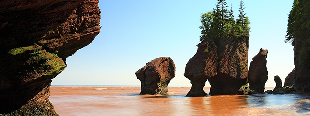 Bay of Fundy in the Canadian Maritimes