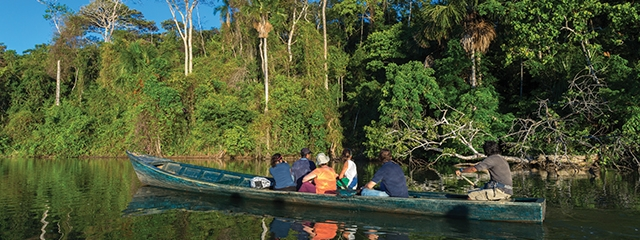 Traveler Audrey goes piranha fishing in Peru