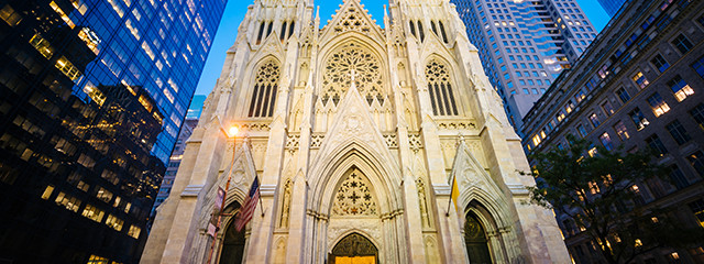 Visit St. Patrick's Cathedral near Chinatown and Little Italy