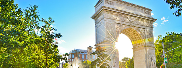 Explore Washington Square Park in Tribeca,, SoHo or Greenwich Village