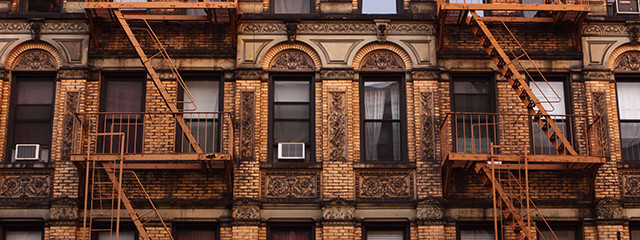 Tenements in the Lower East Side, NYC