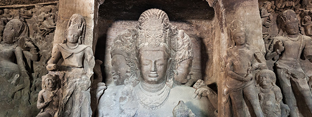 Elephanta Island in Mumbai, India