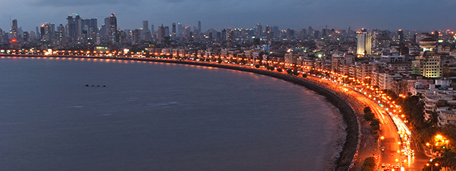Marine Drive in Mumbai, India