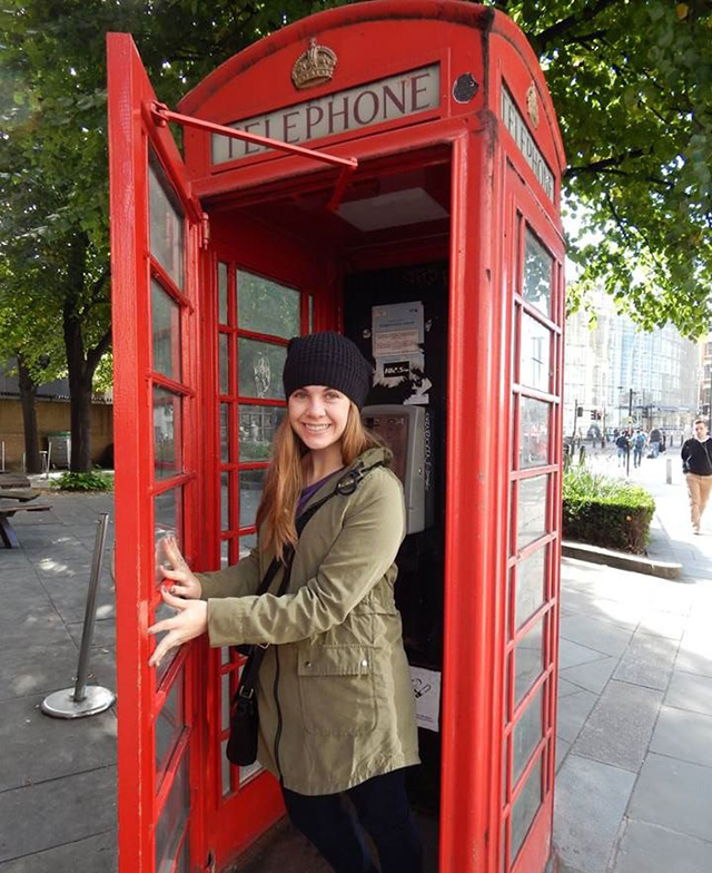 Traveler Stephanie on tour in London