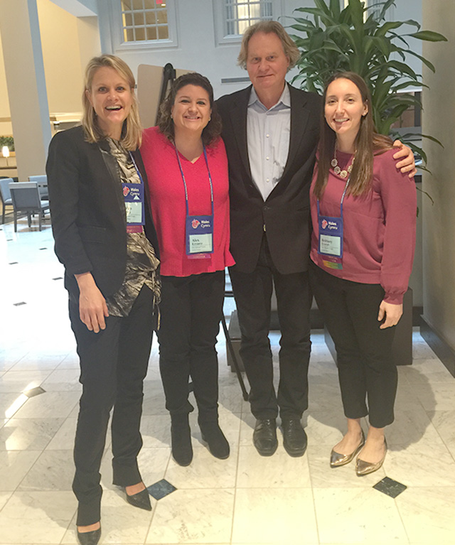 The alumni team with Wade Davis at the ETC conference January 2016