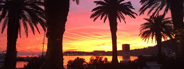 See the sunset in Split, Croatia on tour