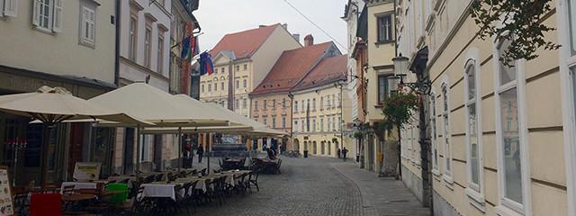 Side street in Ljubljana, Slovenia