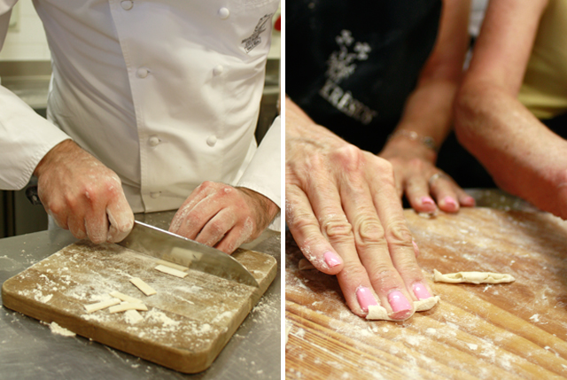 Making cavatelli pasta from scratch