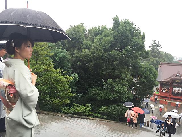 Rain in Kamakura, Japan