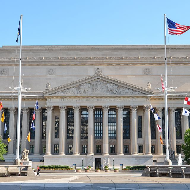 Visit the National Archives museum in Washington DC