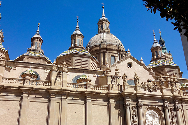 Basilica del Pilar in Zaragoza, Spain