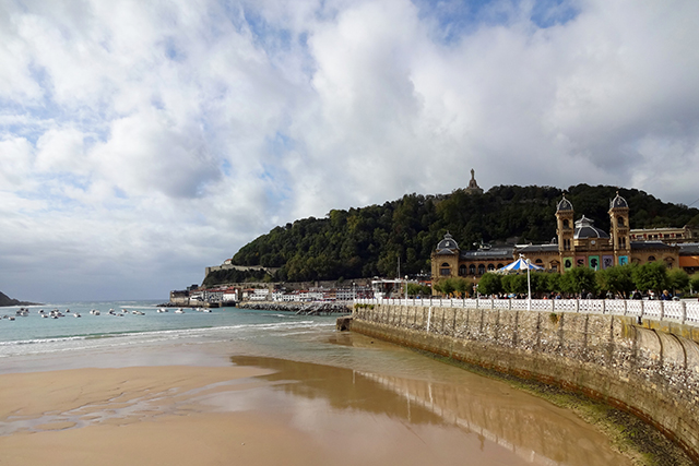 Beach in San Sebastian in the Basque Country of Spain