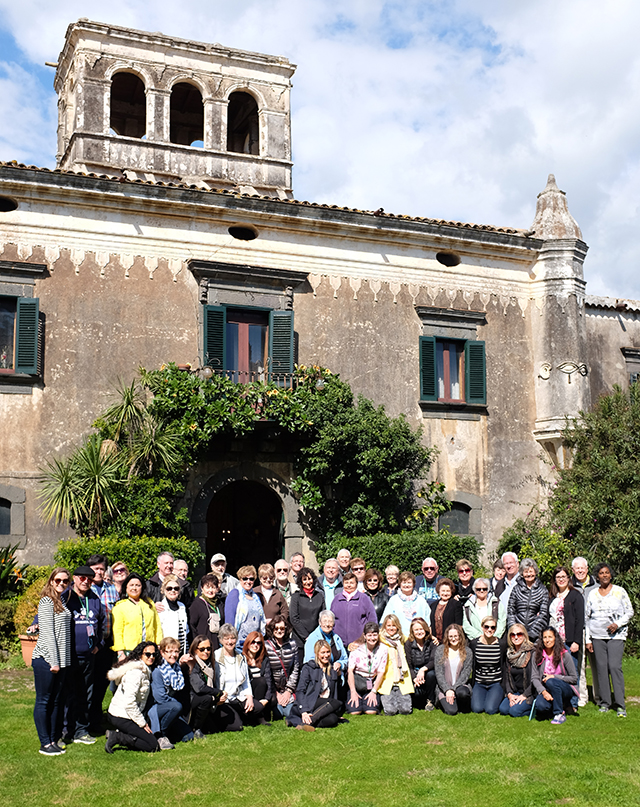 Group Coordinators and Go Ahead staff on Convention Tour in Sicily, Italy