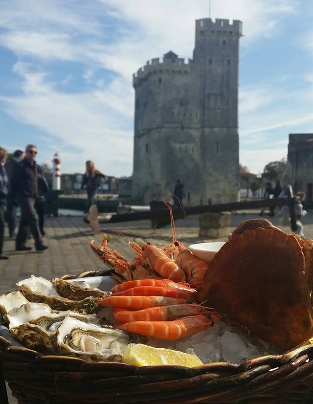 Seafood in La Rochelle, France