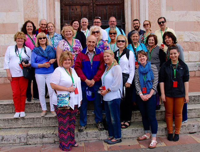 Jamie's group in Assisi, Italy