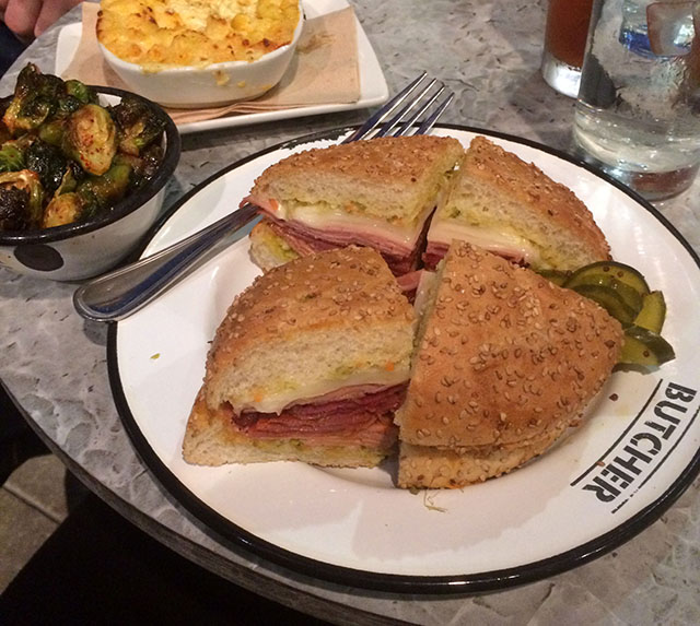 Get a muffaletta sandwich from Butcher in New Orleans, Louisiana
