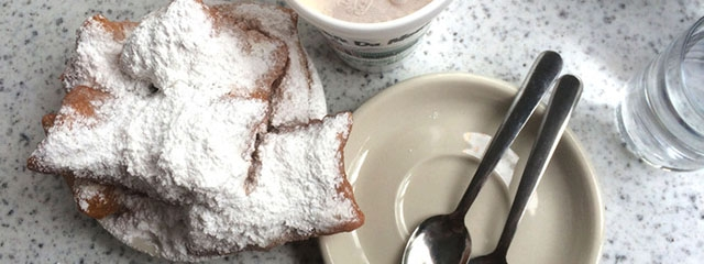 Beignets from Cafe du Monde in New Orleans