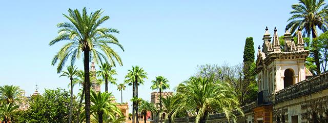 Gardens of the Alcazar Palace - Seville