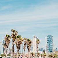 View of Mediterranean from Tel Aviv, Israel