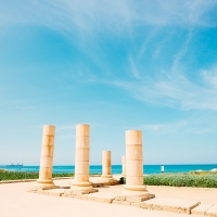 Remains at Caesarea, a port city built by Herod the Great