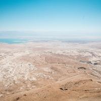 The Judaean Desert from the top of Masada, Israel