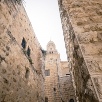 Outside the Church of St. Peter, Jerusalem
