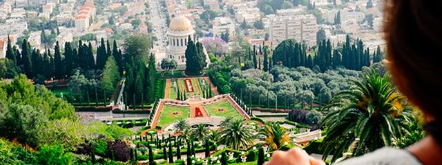 Baha'i Gardens in Haifa, Isarael