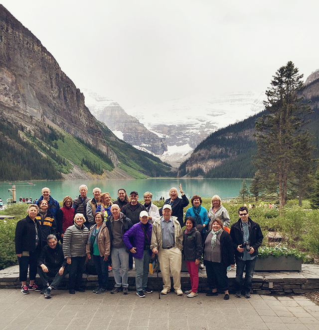 Group at Lake Louise, Banff National Park