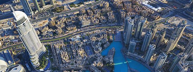 View from the Burj Khalifa Dubai tower