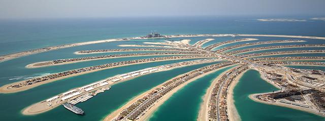 Palm Jumeriah Dubai islands UAE