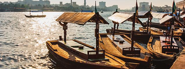 Abra boats Dubai Creek water taxis
