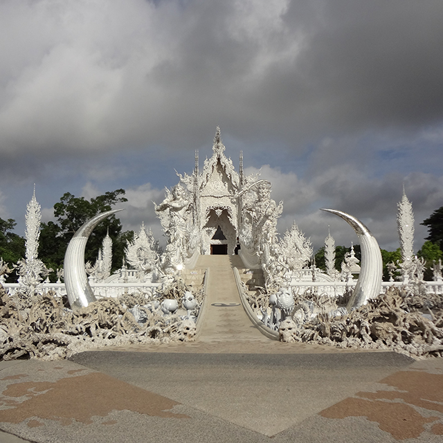 The otherworldly White Temple of Chiang Rai, designed by artist Chalermchai Kositpipat