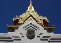 The top of the Temple of the Golden Buddha (Wat Traimit)
