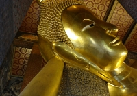 At the Temple of the Reclining Buddha (Wat Pho) in Bangkok