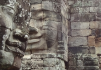 Exploring the Bayon complex outside Siam Reap, Cambodia