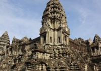 The majestic temple tops of Angkor Wat, Cambodia