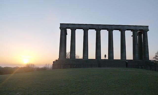 Calton Hills in Edinburgh, Scotland