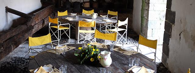 Table at the Contessa's estate in Sicily