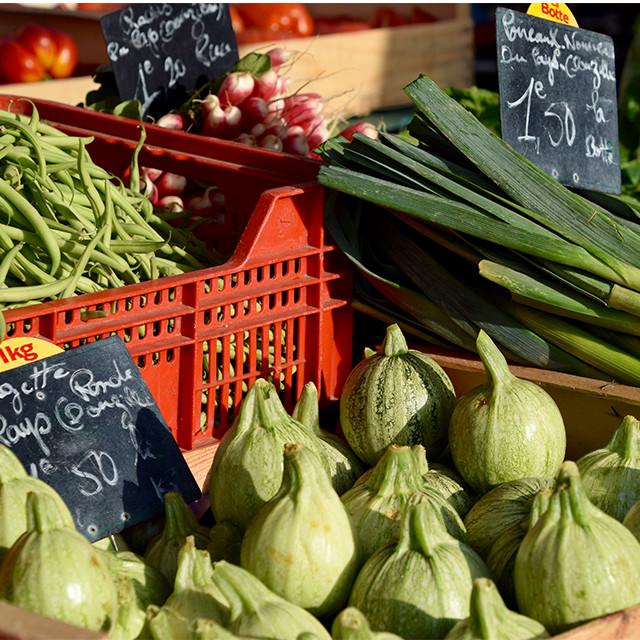 Market in Périgueux, France