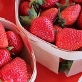 Strawberries from a farmer's market in Nice