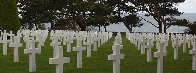 The Normandy American Cemetery in Colleville