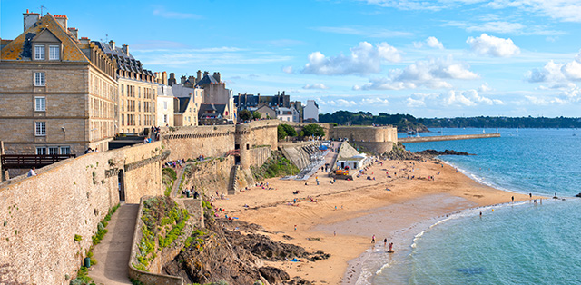 The coast of Brittany, France