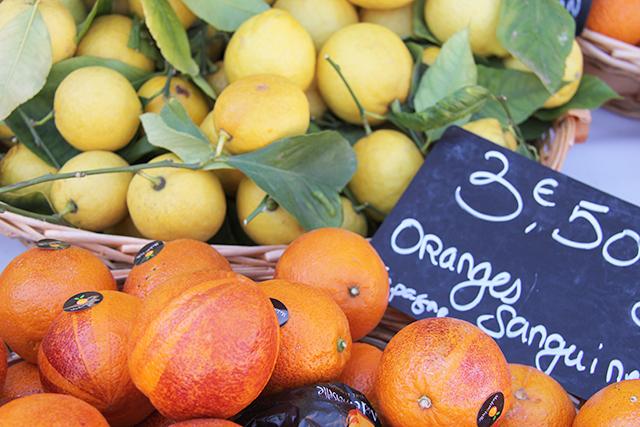 Fresh fruit at farmer's market in Nice, France