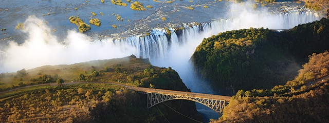 Victoria Falls in Africa