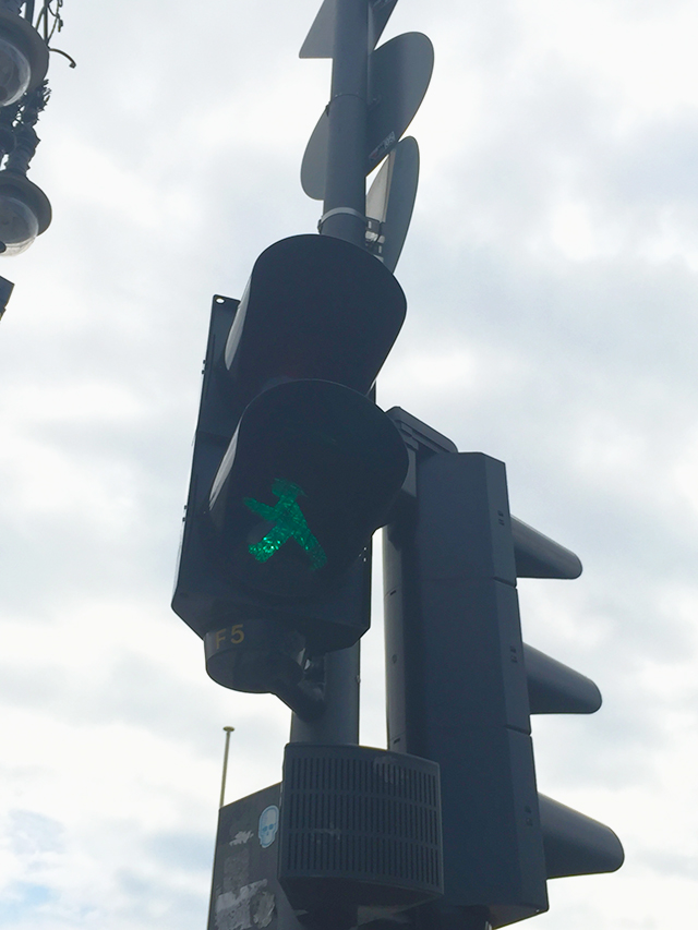 Green man in Berlin, Germany