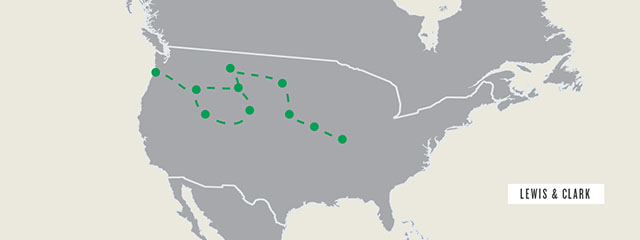 Lewis & Clark's expedition across the United States