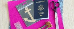 Get crafty with this DIY passport cover