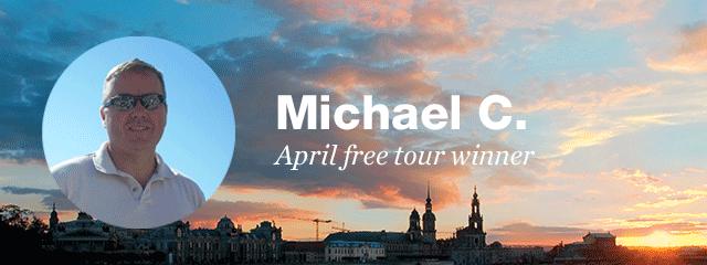 Our April free tour winner